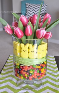 Easter Tulip Display Arrangement