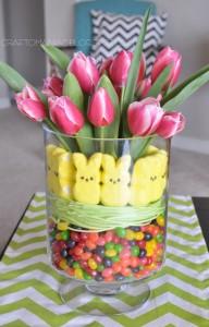 Easter Tulip Display Arrangement