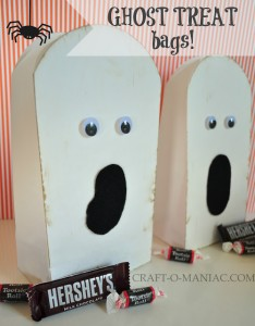 10 Minute Paper Ghost Treat Bags