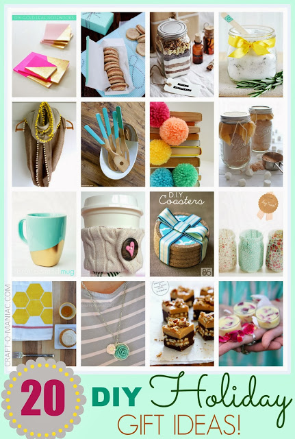 Top 20 diy holiday gift ideas for Christmas present homemade gift ideas