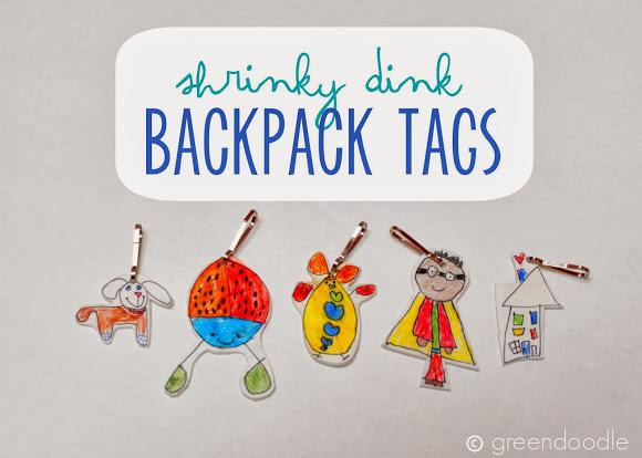Kids Craft~ Shrinky Dink Backpack Tags