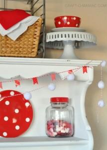 Red and White Polka Dot Valentine Hutch!