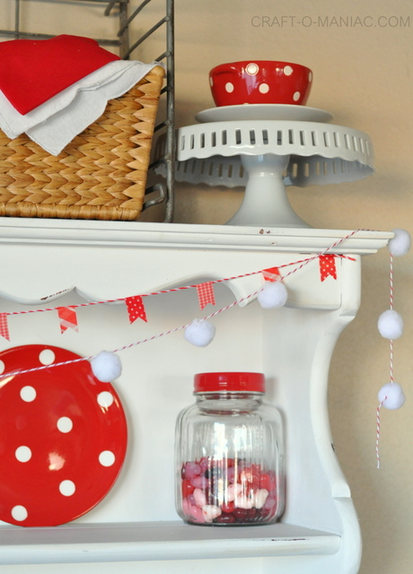 Red and White Polka Dot Valentine Hutch!