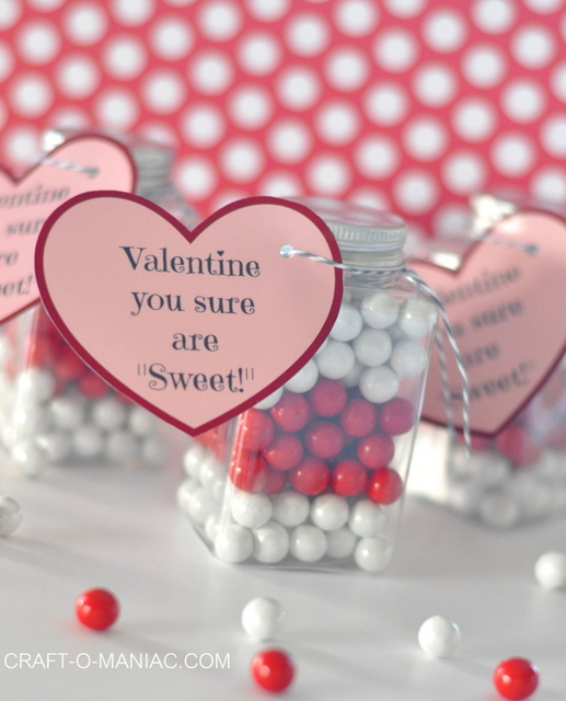 Candy Filled Bottle Valentine's