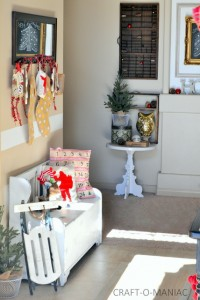 Red and Gold Christmas Entry Way