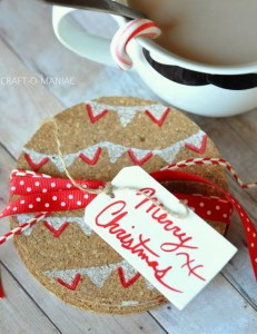 Handmade Gift Idea~ Christmas Cork Coasters
