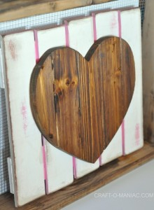 DIY Rustic Heart Gate