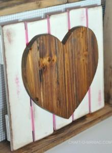 DIY Rustic Heart Gate