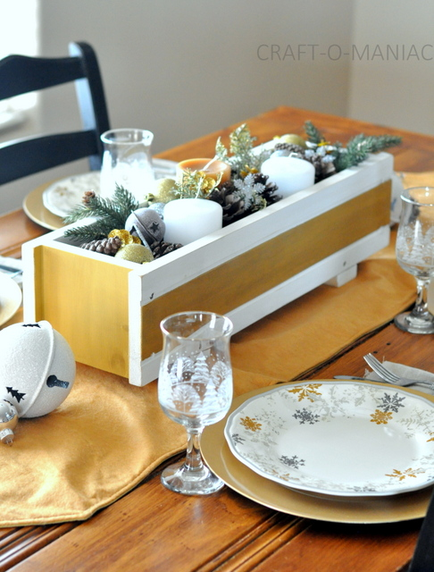 Gold & Silver Holiday Tablescape and Hutch