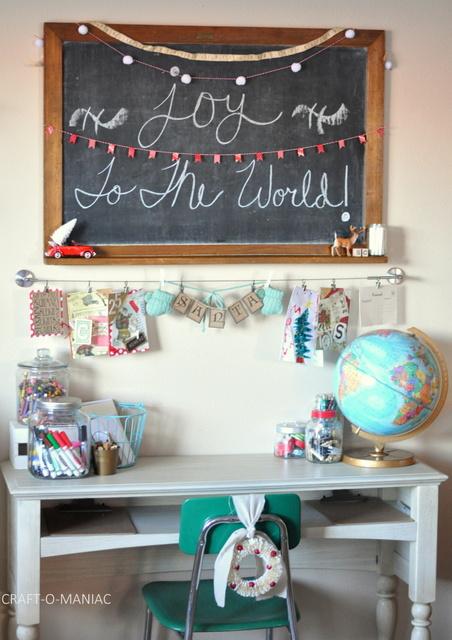 Kids Santa Letter & Card Station
