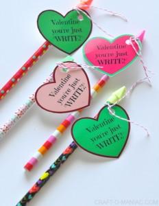 "DIY Candy Free Valentine's~ ""Valentine You're just ""Write!"""