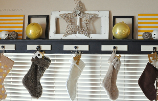 DIY Embellished Initial Letter Stockings