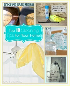Top 10 Cleaning Tips for your Home!