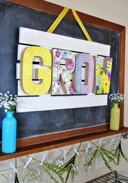 DIY Spring Grow Sign