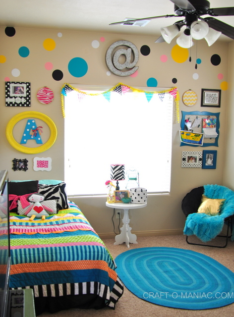a little girls colorful bedroom - Colorful Bedroom