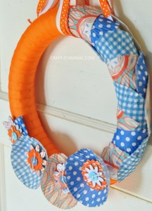 Spring Ribbon and Cupcake Liner Wreath
