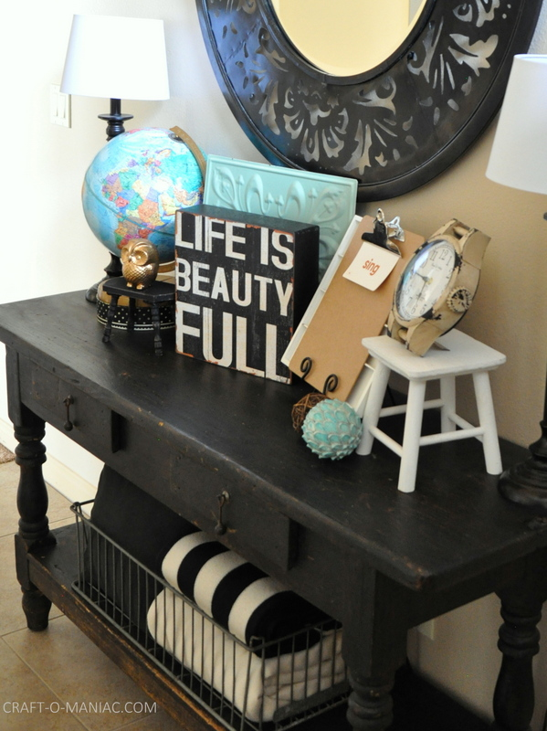 Vintage Eclectic Entry Table