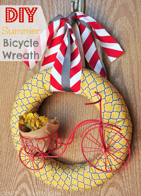 DIY Summer Bicycle Wreath