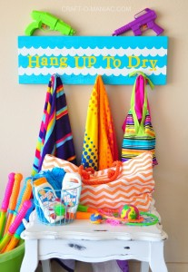 DIY Bathing Suit & Towel Drying Board