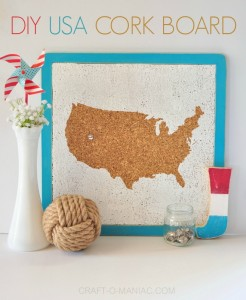 DIY USA CORK BOARD