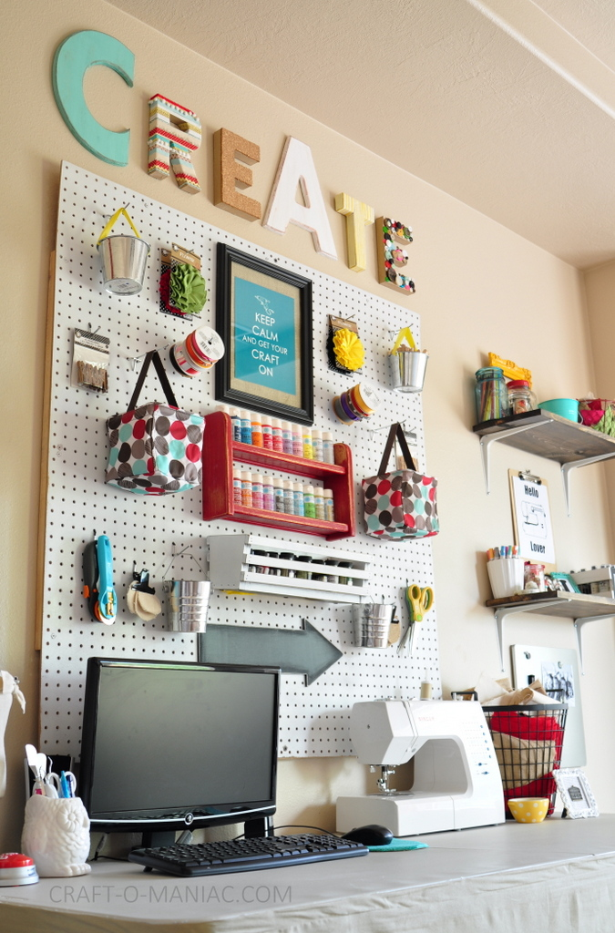 Craft Room Makeover Create Angle Good Looking