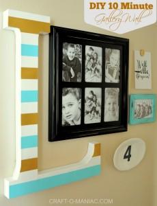 DIY 10 Minute Gallery Wall