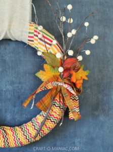 DIY Fall Fabric and Twig Wreath