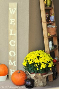 Fall Porch and DIY Welcome Sign