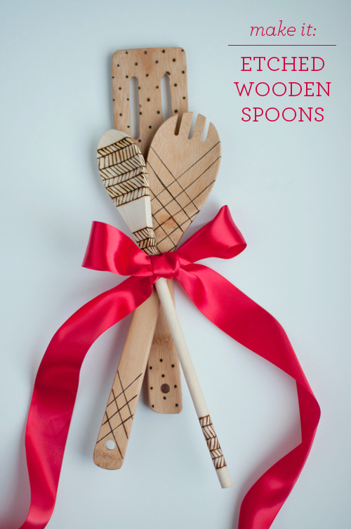 Christmas Gift Etched Wood Spoons Craft O Maniac