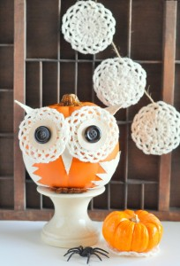 Decorated Faux Pumpkins and Trick Your Pumpkin Contest