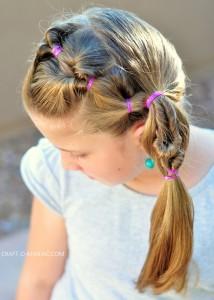 DIY Little Girl Twisty Loop Hair Do!