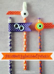 Halloween Embellished Pencils