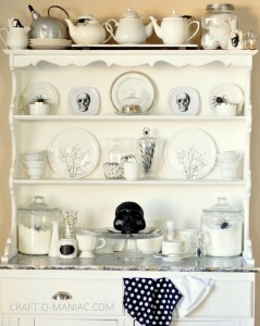 Black and White Witches Tea Hutch