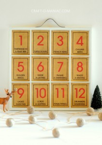 12 Days of Christmas Song Tray
