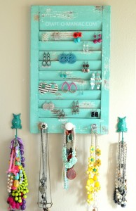 DIY Jewelry Organization Wall