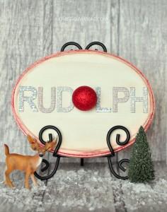 DIY Rudolph Word Sign