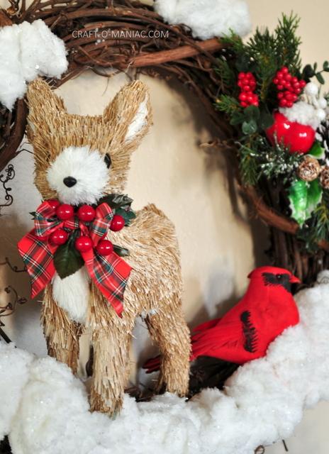 DIY Winter Woodland Christmas Wreath
