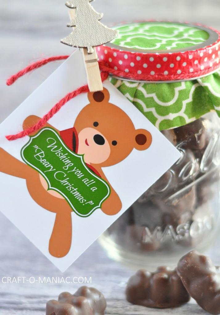"Handmade gift  Wishing you a ""Beary Christmas"""