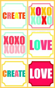 Free Colorful Printable's