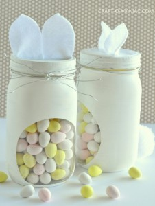 DIY Bunny Candy Jars