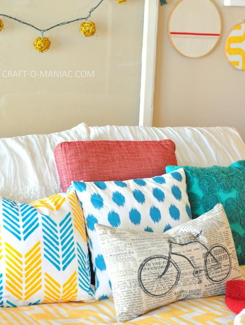DIY Stenciled Pillow from Paint A Pillow