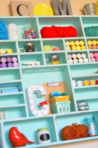 DIY Craft Cubby Wall