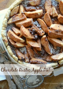 Rustic Chocolate Apple Pie