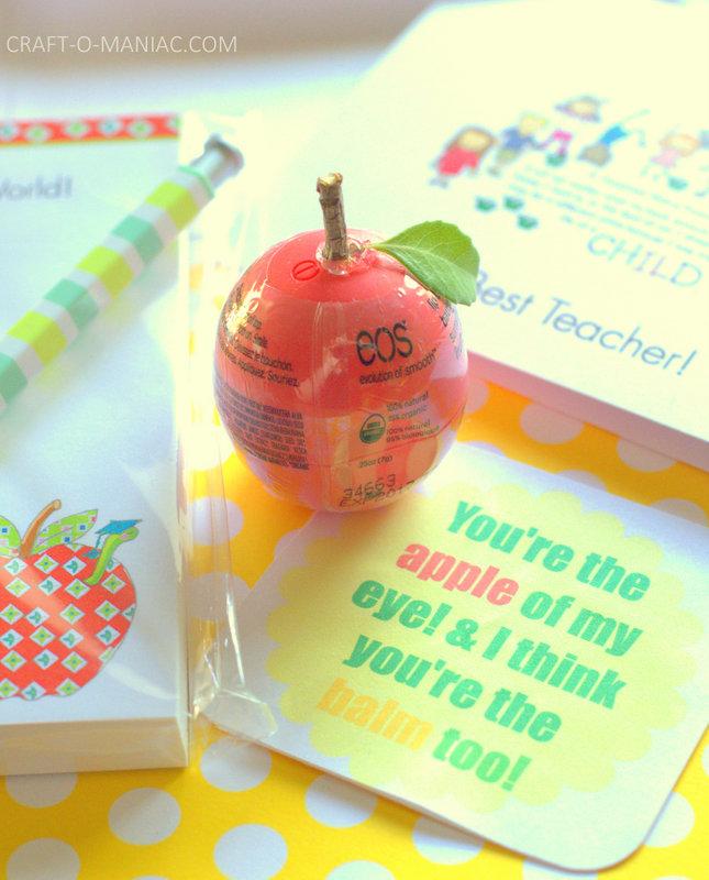 EOS Apple Balm Teacher Gift