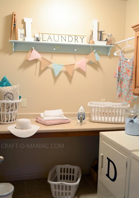 Laundry Room Chalky Finish Shelf