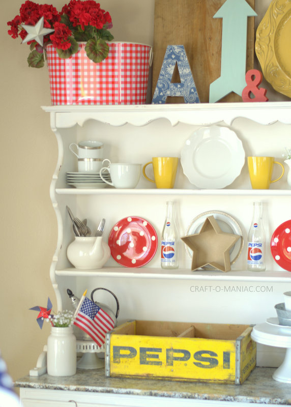 Patriotic Hutch Decor 2015