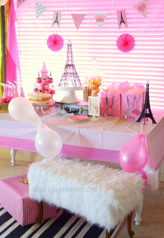 Paris Themed Birthday Party Craft O Maniac