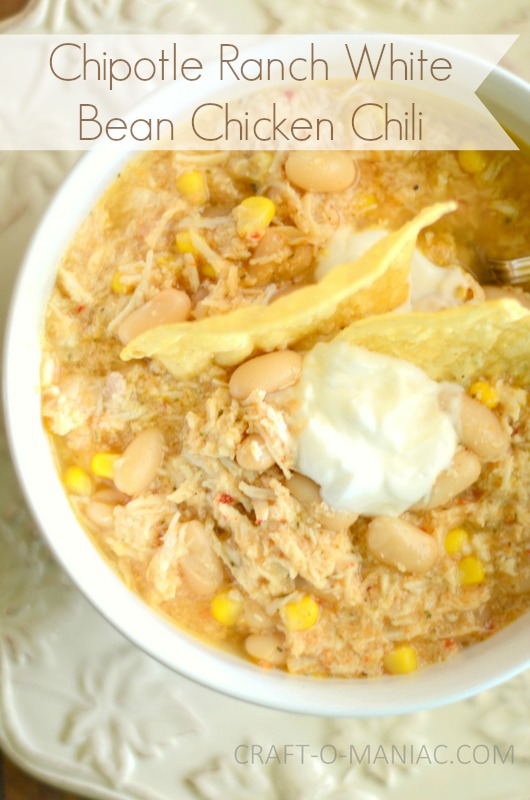 Chipotle Ranch White Bean Chicken Chili