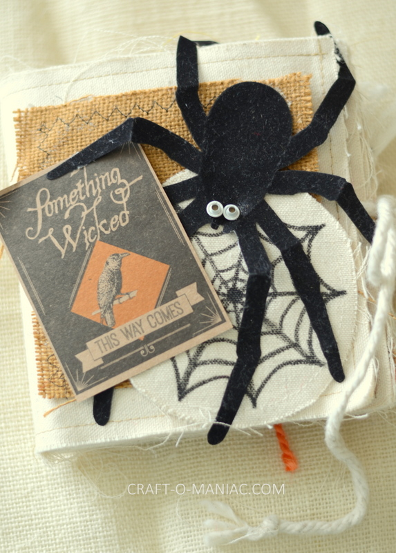 DIY Halloween Canvas Book
