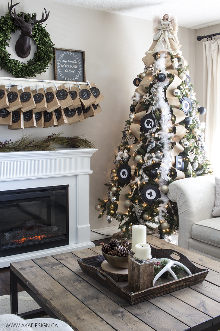 Cc Black White Rustic Christmas Tree Craft O Maniac